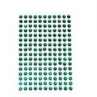 100 strass auto-collant rond 4 mm Vert Emeraude