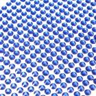 Lot de 100 stickers diamant strass auto-adhesifs rond 4 mm bleu marine