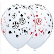 Ballon Décoration Casino Las Vegas poker (lot de 5)