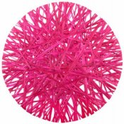 4 Sets de Table Ronds Raphia Fuchsia